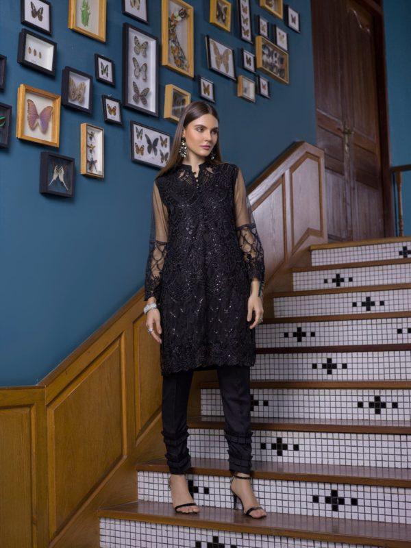 Pakistani Kurti Azure Luxury Formals Vol 5 Black Swan – LFD04 HOT  – RELISTED / RESTOCKED