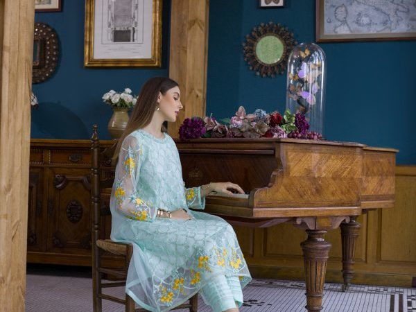 Pakistani Kurti Azure Luxury Formals Vol 5 Ice Waves – LFD01 HOT