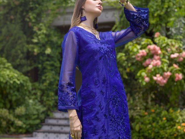 Pakistani Kurti Azure Luxury Formals Vol 5 Sapphire Dust – LFD08