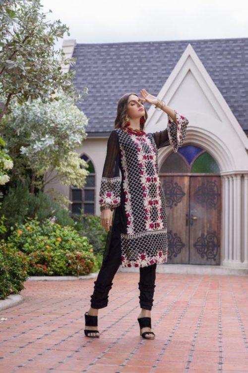 Pakistani Kurti Azure Luxury Formals Vol 5 Dark Rose – LFD09 HOT