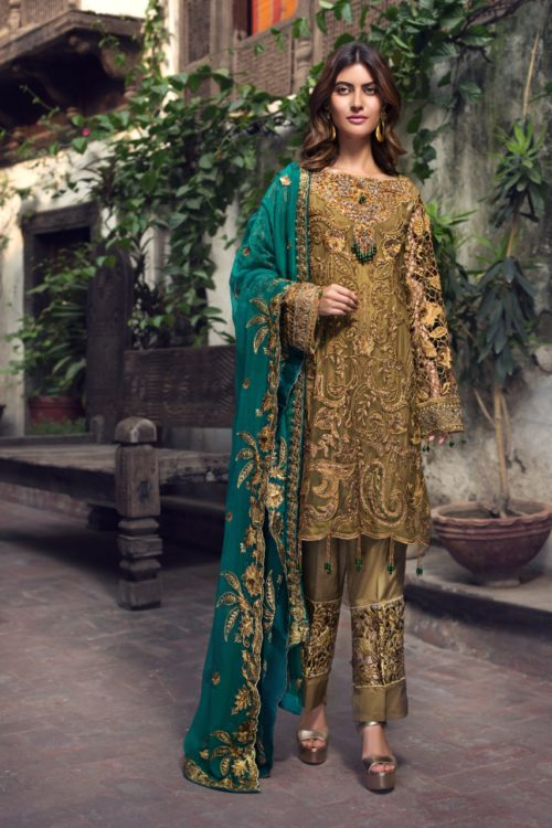 Zirkon by Zebtan ZQ – 04 Zirkon by Zebtan - Original Chiffon Dupatta Salwar Suit