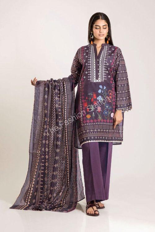 Khaadi Winter Vibe 2019 CKB19502-Purple-3Pc