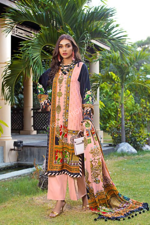 Luxury Shaleen Digital Satin Collection by Gul Ahmed DCS06