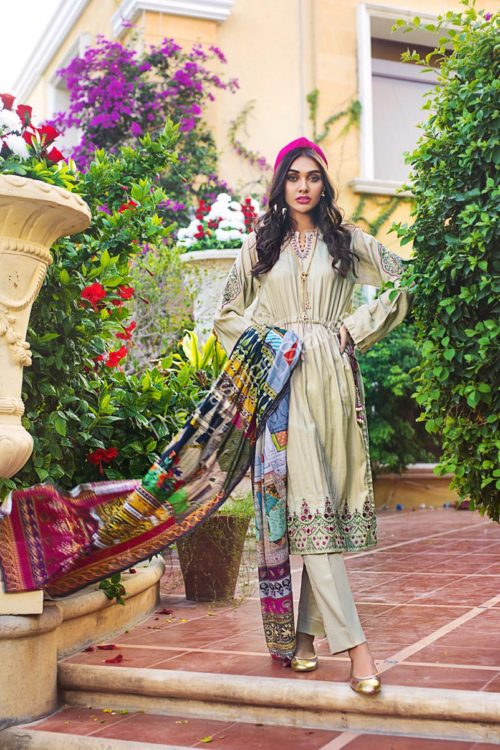 Luxury Shaleen Digital Satin Collection by Gul Ahmed DCS09