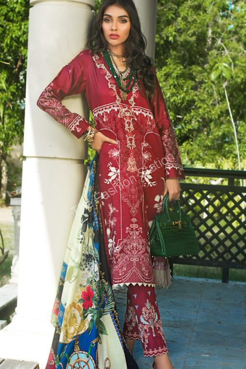 Luxury Shaleen Digital Satin Collection by Gul Ahmed DCS15