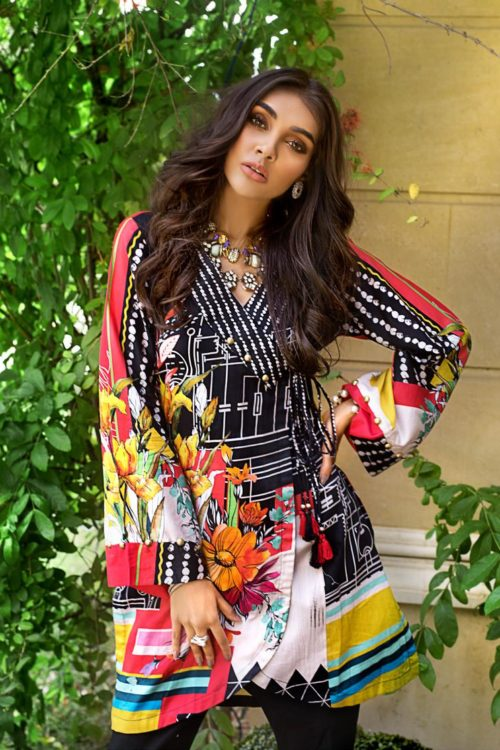 Luxury Shaleen Digital Satin Collection by Gul Ahmed DCSS06 -1 PC SHIRT