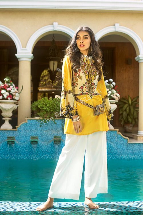 Luxury Shaleen Digital Satin Collection by Gul Ahmed DCSS11-1 PC SHIRT