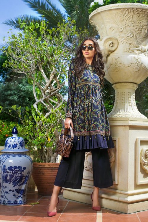 Luxury Shaleen Digital Satin Collection by Gul Ahmed DCSS10-1 PC SHIRT