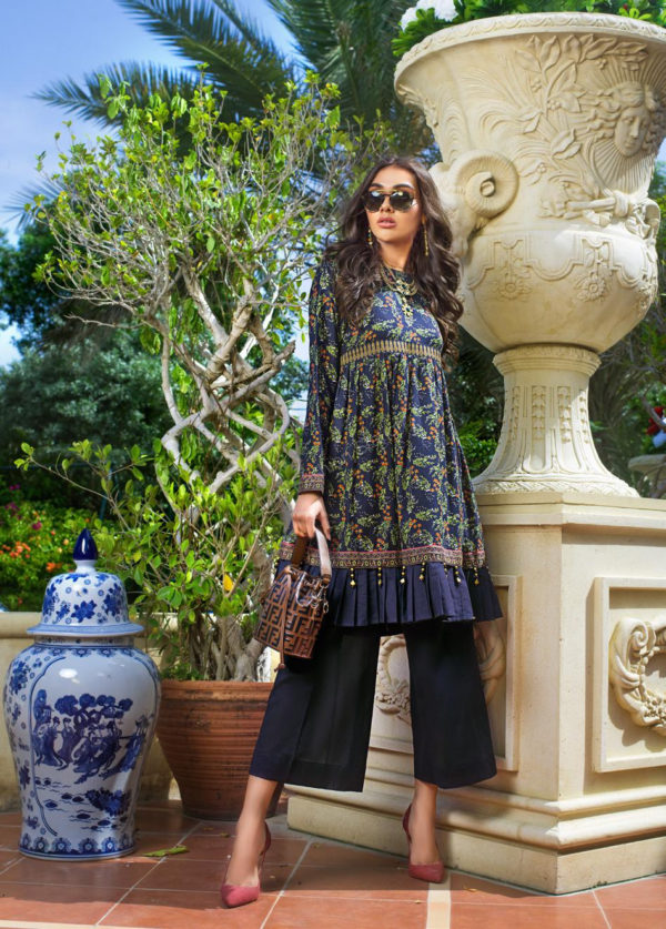 Luxury Shaleen Digital Satin Collection by Gul Ahmed DCSS10-1 PC SHIRT  – RELISTED / RESTOCKED