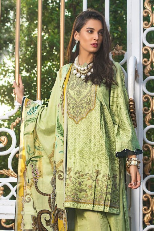Luxury Shaleen Digital Satin Collection by Gul Ahmed DCS14