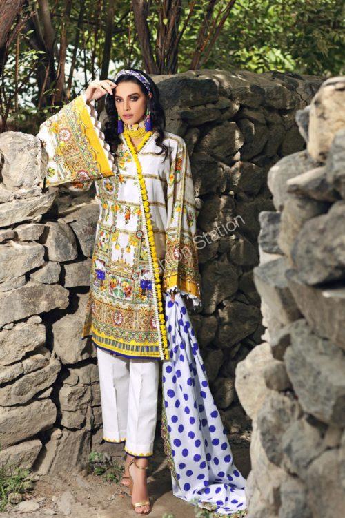 Uzbek Ensemble Winter Collection by Gul Ahmed K66