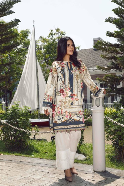 Pakistani Kurti from Firdous  |  Linen |  LK-1T9403 Linen Kurtis by Firdous - Original pakistani suits in mumbai