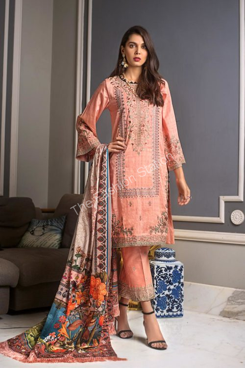 Luxury Shaleen Digital Satin Collection by Gul Ahmed DCS08