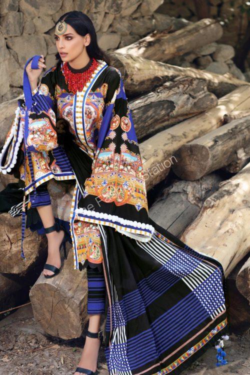 Uzbek Ensemble Winter Collection by Gul Ahmed K68