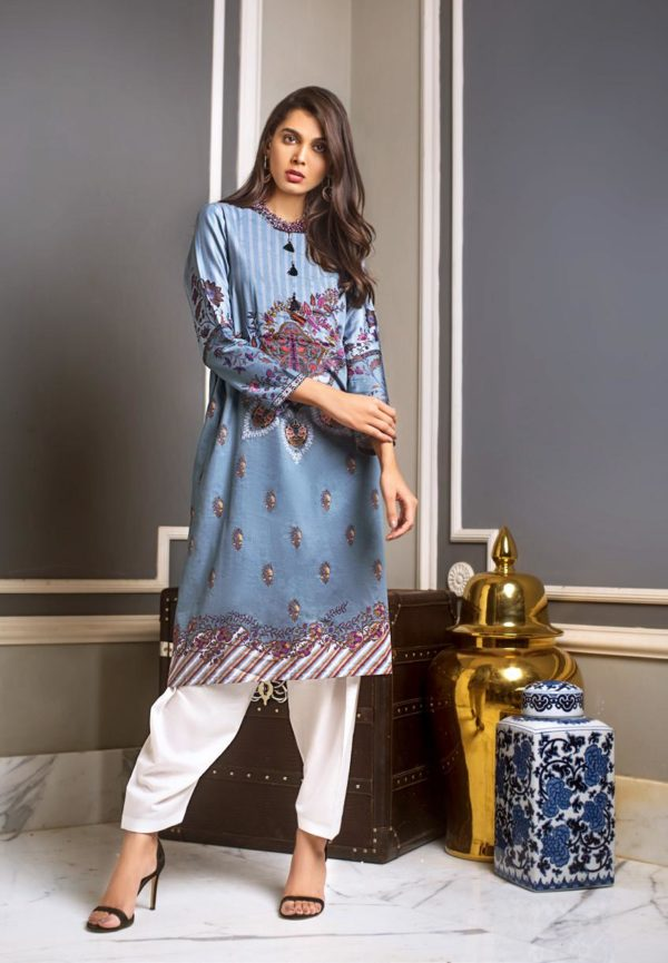Luxury Shaleen Digital Satin Collection by Gul Ahmed DCSS09 -1 PC SHIRT