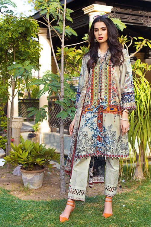 Luxury Shaleen Digital Satin Collection by Gul Ahmed DCS11