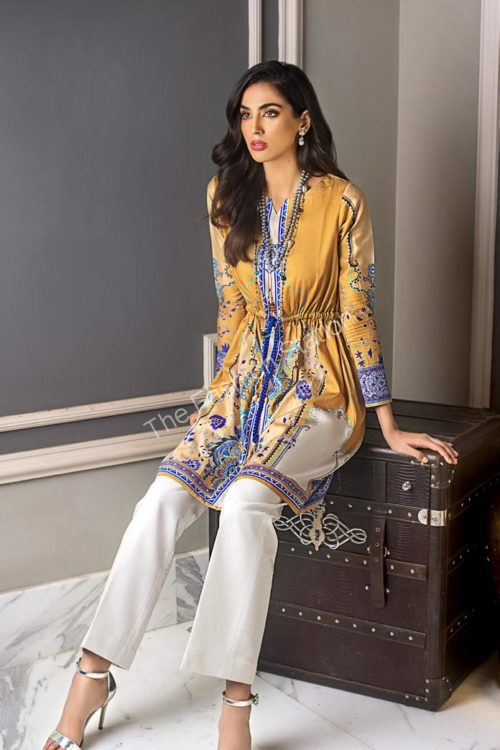 Luxury Shaleen Digital Satin Collection by Gul Ahmed DCSS12 -1 PC SHIRT