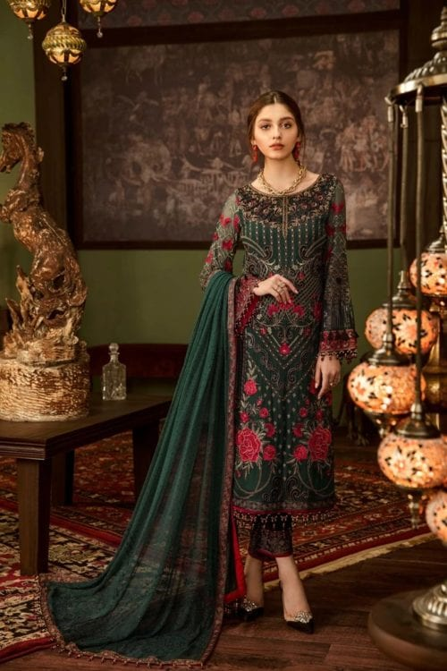 Embroidered Chiffon Salwar Kameez by Flossie  – Design Ruby Woa Flossie Vol 5 - Original Festive