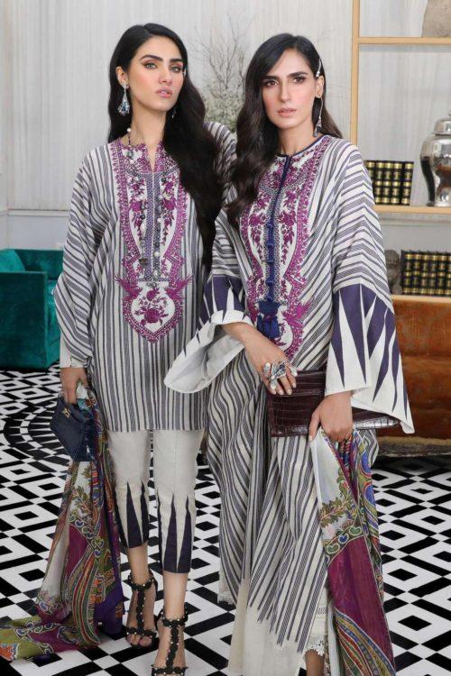 Sana Safinaz Pre-Fall Embroidered Cambric 2019 - Original