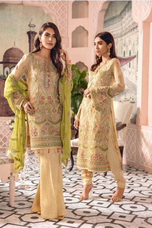 Freesia Chiffon Salwar Kameez | Party Wear | Maryum N Maria