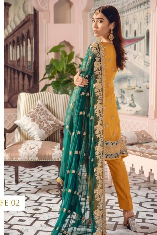 Freesia Chiffon Salwar Kameez | Party Wear | Maryum N Maria