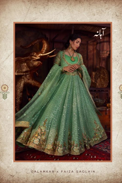 Raiza- Wedding Collection by Qalamkar – Aahana QF-02 Raiza- Wedding Collection by Qalamkar - Original Ready to Ship - Original Pakistani Suits