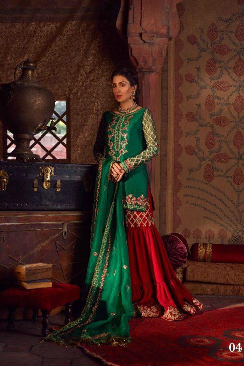 Raiza- Wedding Collection by Qalamkar - Original Raiza- Wedding Collection by Qalamkar – Samaal QF-04 Salwar Suits Pakistani Suits for Winter