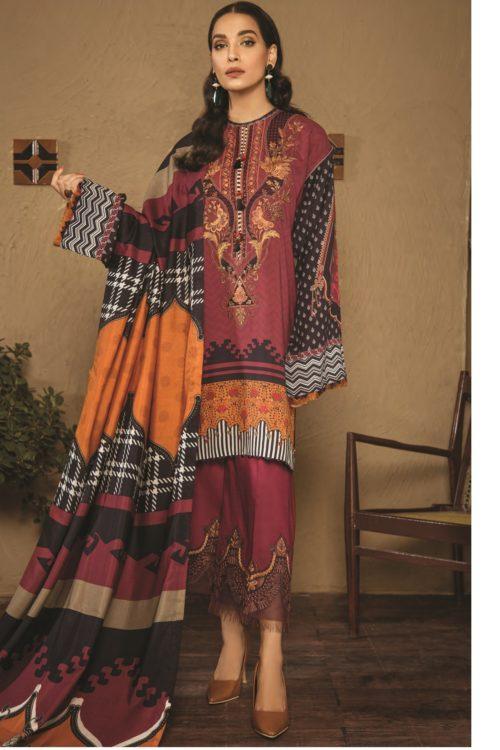 Baroque Fuchsia Linen 2019 Design 06 Baroque best salwar suits online