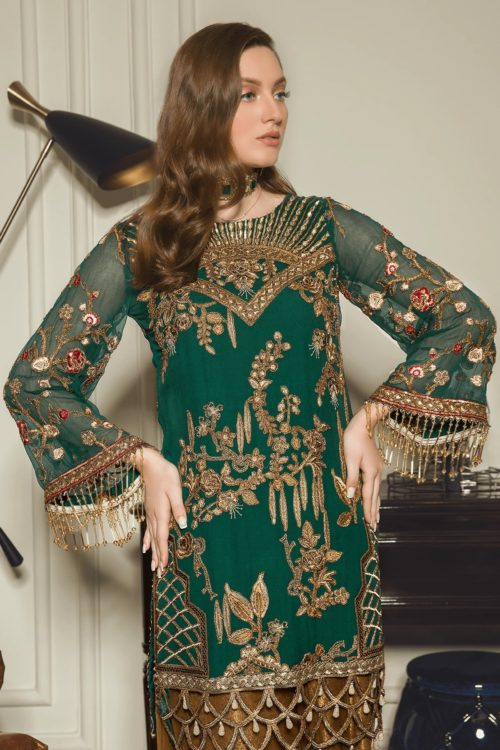 Luxury Chiffon by Emaan Adeel Vol 8 EA-802 Emaan Adeel Vol 8 - Original pakistani suits in delhi