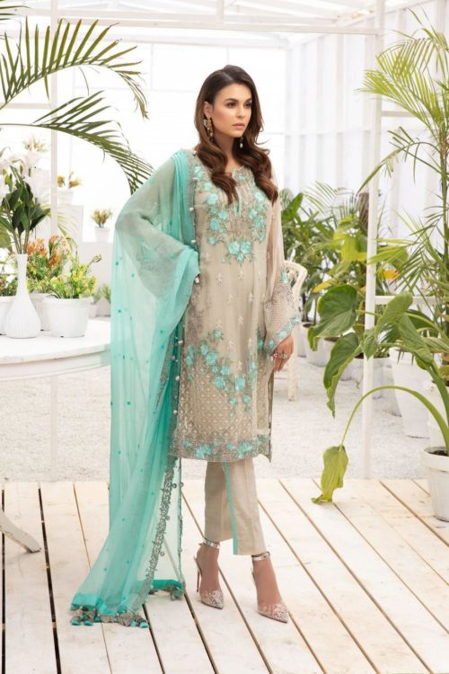 Micconi by Reemal Khan - Original Micconi by Reemal Khan Premium Chiffon Design # 12 Party Wear Salwar Kameez and Salwar Suits in India