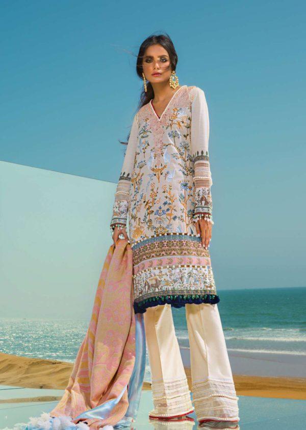Sana Safinaz Winter Shawl – Design 4A