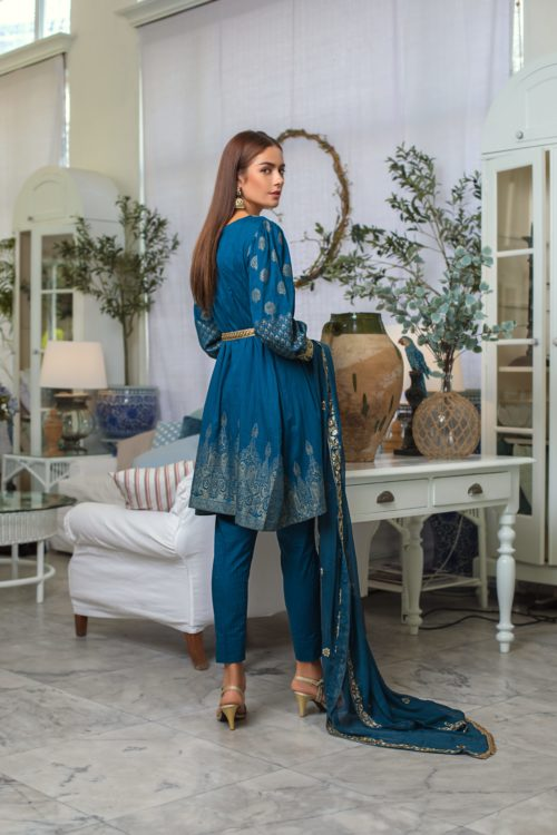 Jaipur Jacquard Embroidered by ZS Textiles JJ-6 Jaipur Jacquard Embroidered by ZS Textiles - Original pakistani suits in delhi