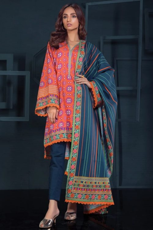 Orient Winter Collection Vol 2 - Original Orient Winter Collection Vol 2 OTL-19-219/B Salwar Suits Pakistani Suits for Winter