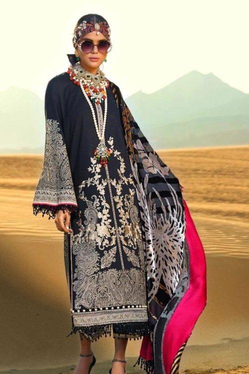 Sana Safinaz Winter Shawl 2019 - Original Sana Safinaz Winter Shawl 2019 Design 1B [tag]
