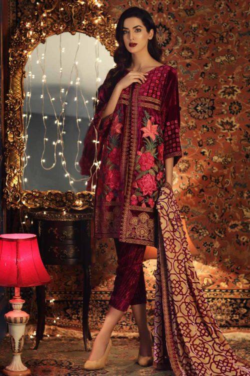 Charizma Signora Velvet 2019 - Original Charizma Signora Velvet 2019 – SN 06 velvet salwar suits