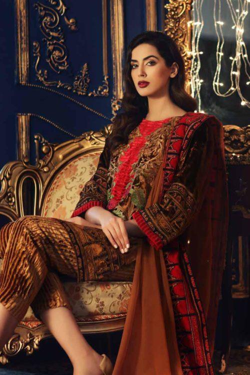 Charizma Signora Velvet 2019 - Original Charizma Signora Velvet 2019 – SN 04 velvet salwar suits