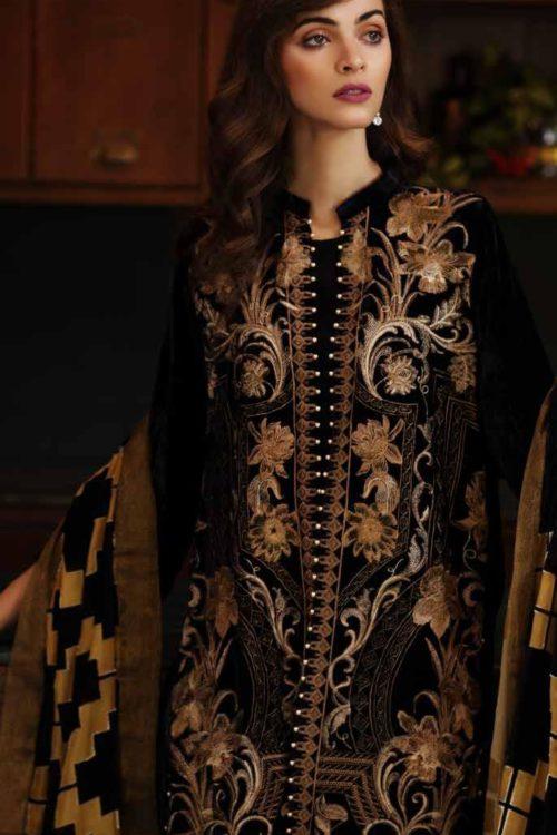 Charizma Signora Velvet 2019 - Original Charizma Signora Velvet 2019 – SN 05 velvet salwar suits