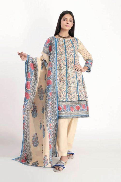 Khaadi Lawn 2020 - Original Shirt Shalwar Dupatta [tag]