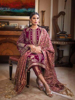 Sana Safinaz Muzlin Volume 3 M06A-18V2 RESTOCKED Best Sellers Restocked Chiffon Dupatta Salwar Suit