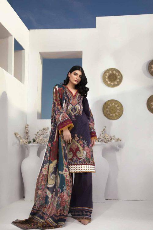Damask X Rouche Designer Salwar Kameez D No 06 Damask X Rouche Designer Salwar Kameez - Original Party & Festive Collection