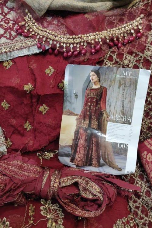 Aayra Festive Chiffon – Pakistani Suit CC-V3-D2  – RELISTED / RESTOCKED Aayra Festive Chiffon - Original On Sale