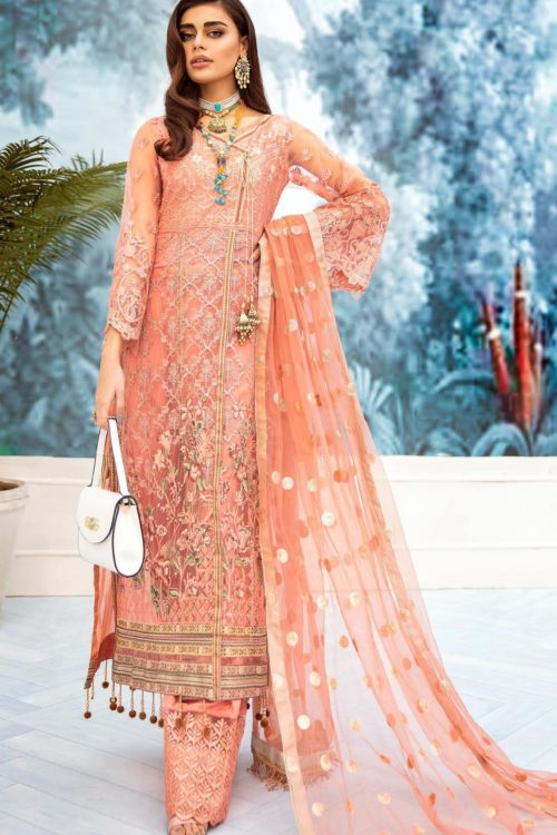 Nureh Embroidered Chiffon Collection 2020 N-03 Best Sellers Restocked Party & Festive Collection
