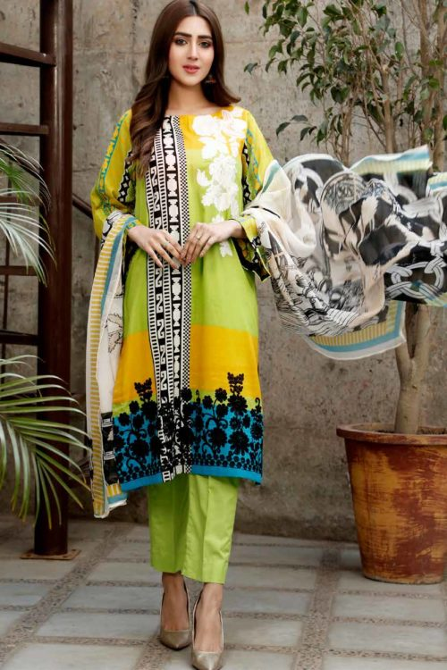 Yellow Series Vol 2 by Charizma Embroidered Lawn Y-07C Best Sellers Restocked Yellow Series Vol 2 by Charizma Embroidered