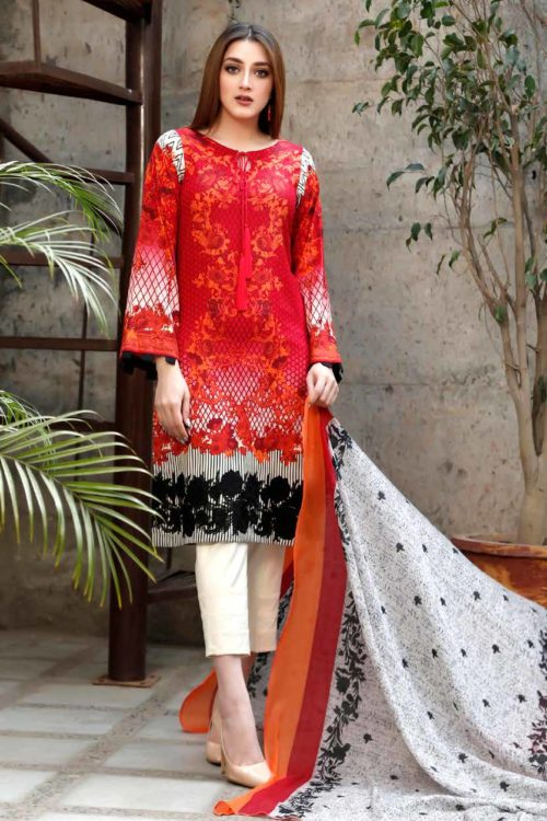 Yellow Series Vol 2 by Charizma Embroidered Lawn Y-05A Best Sellers Restocked best salwar suits online