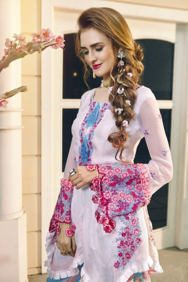 Zara Hayaat Luxury Lawn  – ROSE BERRY SS'20-01