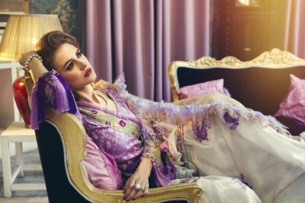 Zara Hayaat Luxury Lawn   – MULBERRY ICE SS-02 - Recently Restocked
