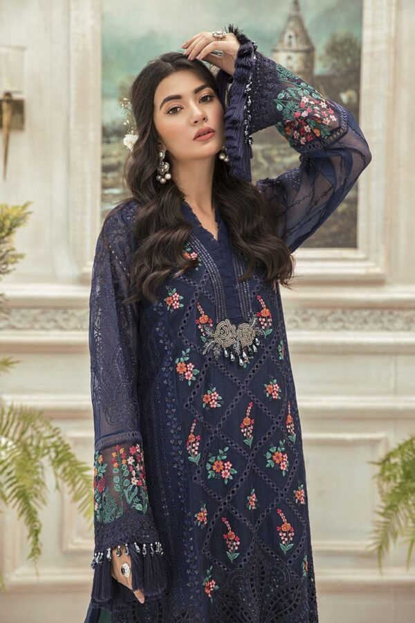 MARIAB EID Collection 2020 – Unstitched MBROIDERED – Navy Blue (BD-1901)