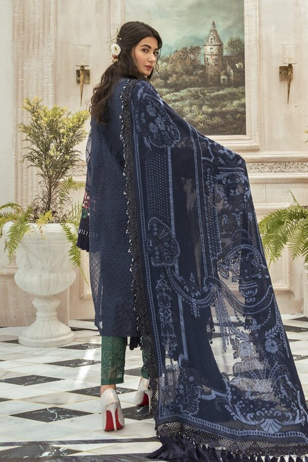 MARIAB EID Collection 2020 – Unstitched MBROIDERED – Navy Blue (BD-1901) Pakistani Suits in India