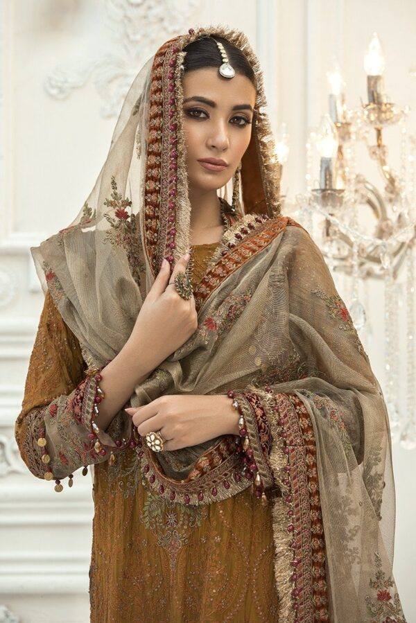 MARIAB EID Collection 2020 – Unstitched MBROIDERED – Rust (BD-1906)