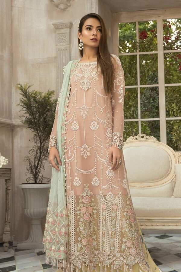 MARIAB EID Collection 2020 – Unstitched MBROIDERED – Pink (BD-1907)